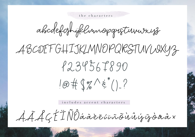 Sky - Handwritten Script Font example image 7