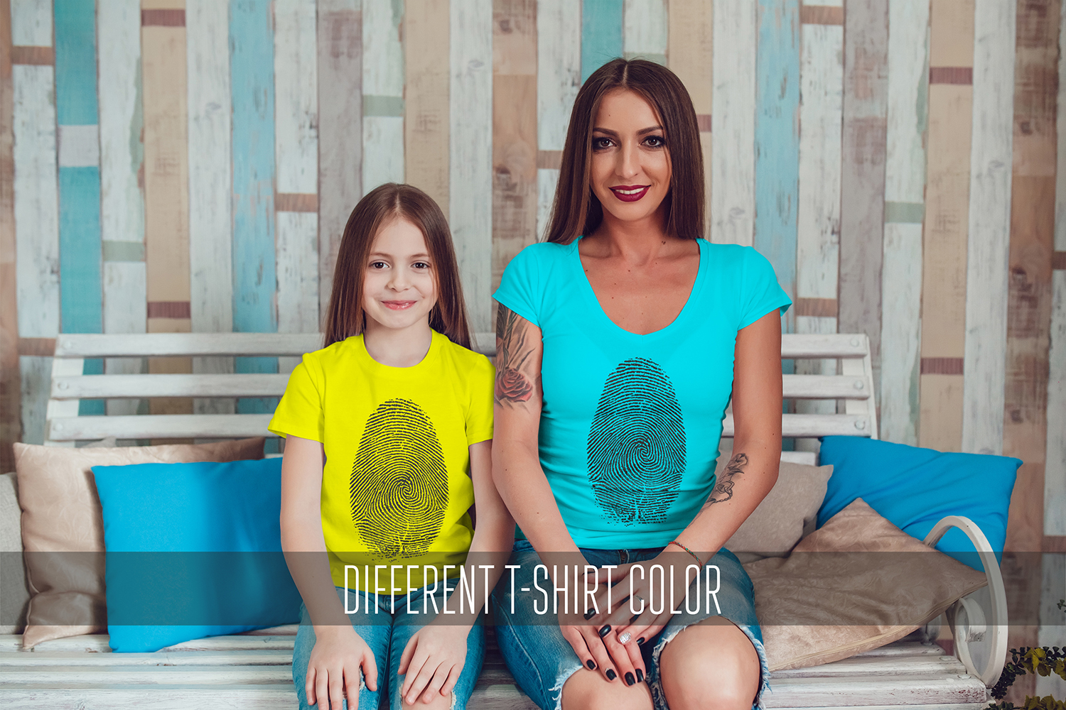 Family T-Shirt Mock-Up Vol.1 2017 example image 13