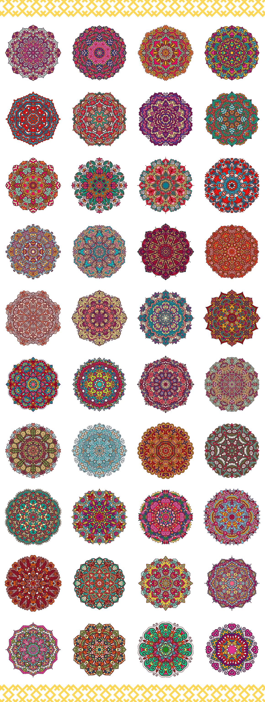 80 Vector Mandalas Vintage Ornament example image 2
