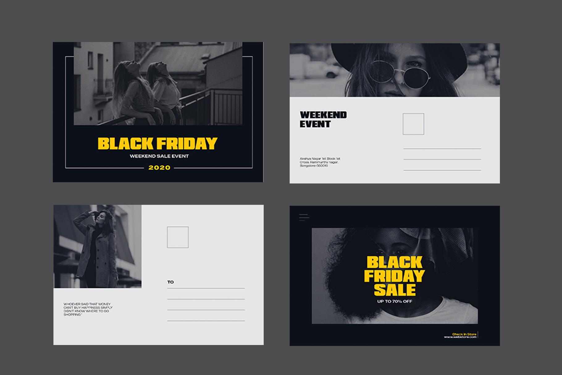 Black Friday Postcard example image 7