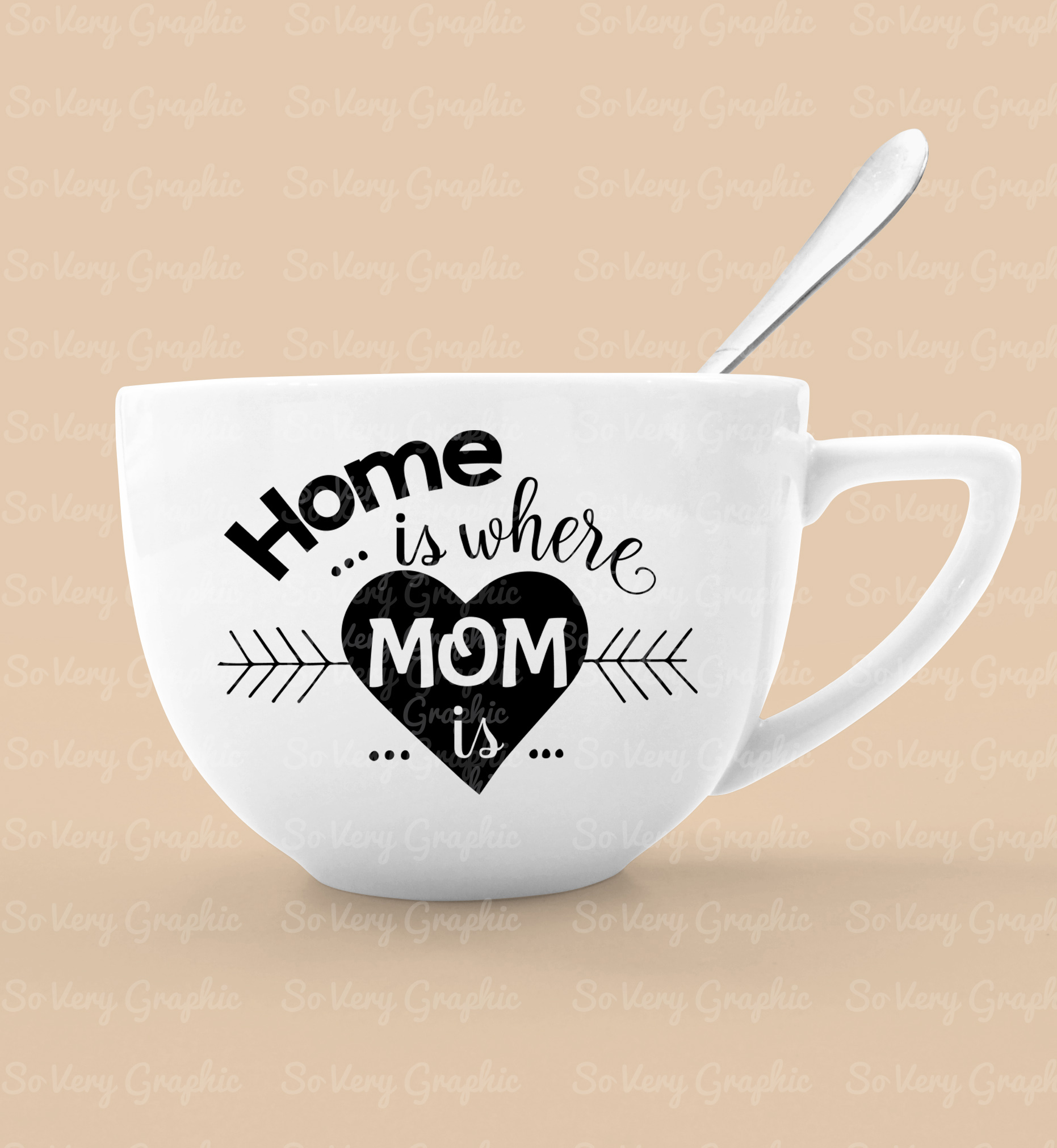 Home is Where Mom is | Cutting File & Printable | SVG | PNG example image 3