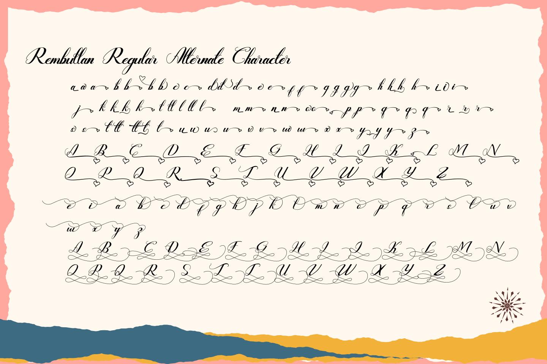 Rembullan Script Family Font example image 12