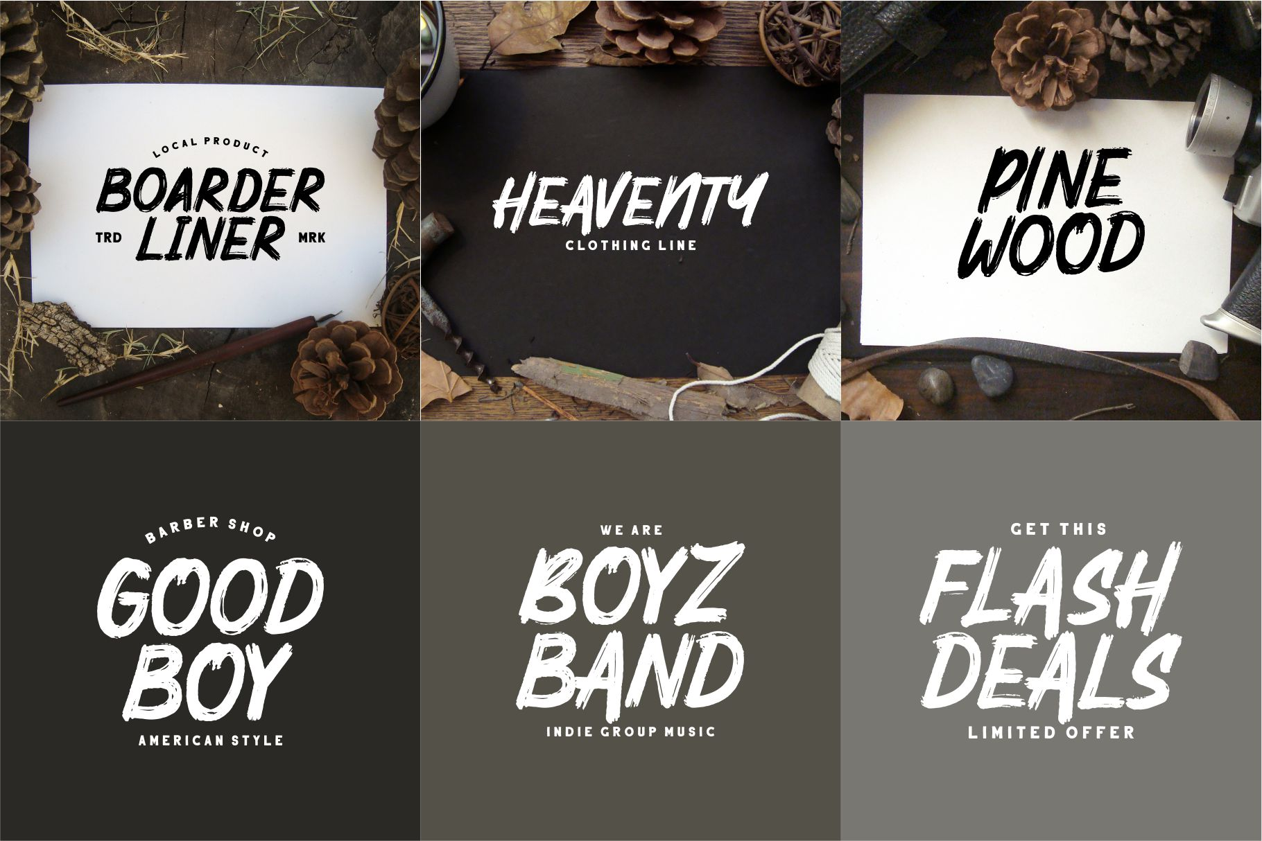 Mighty Brush Font example image 3