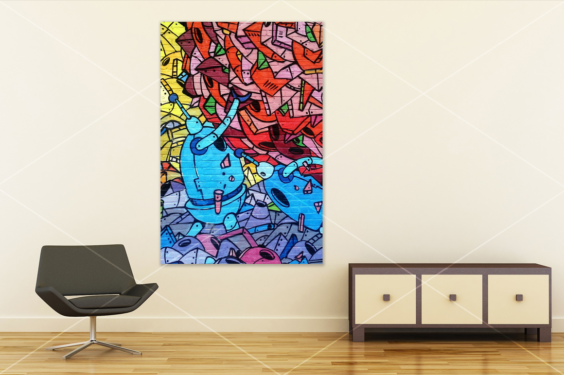 Wall art mockup V4 example image 2