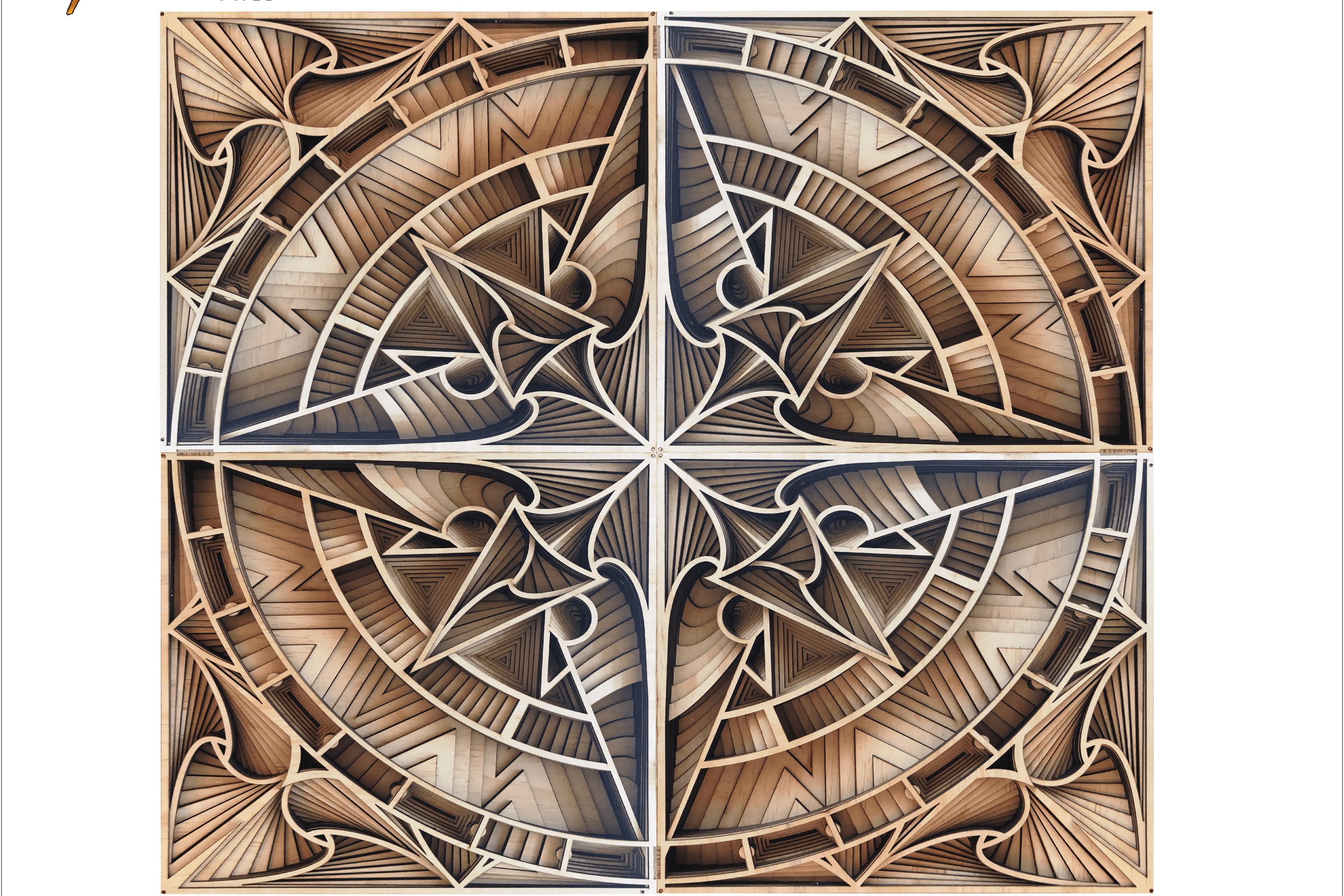 Multilayer Mandala Compass Wind Rose Files for laser example image 1