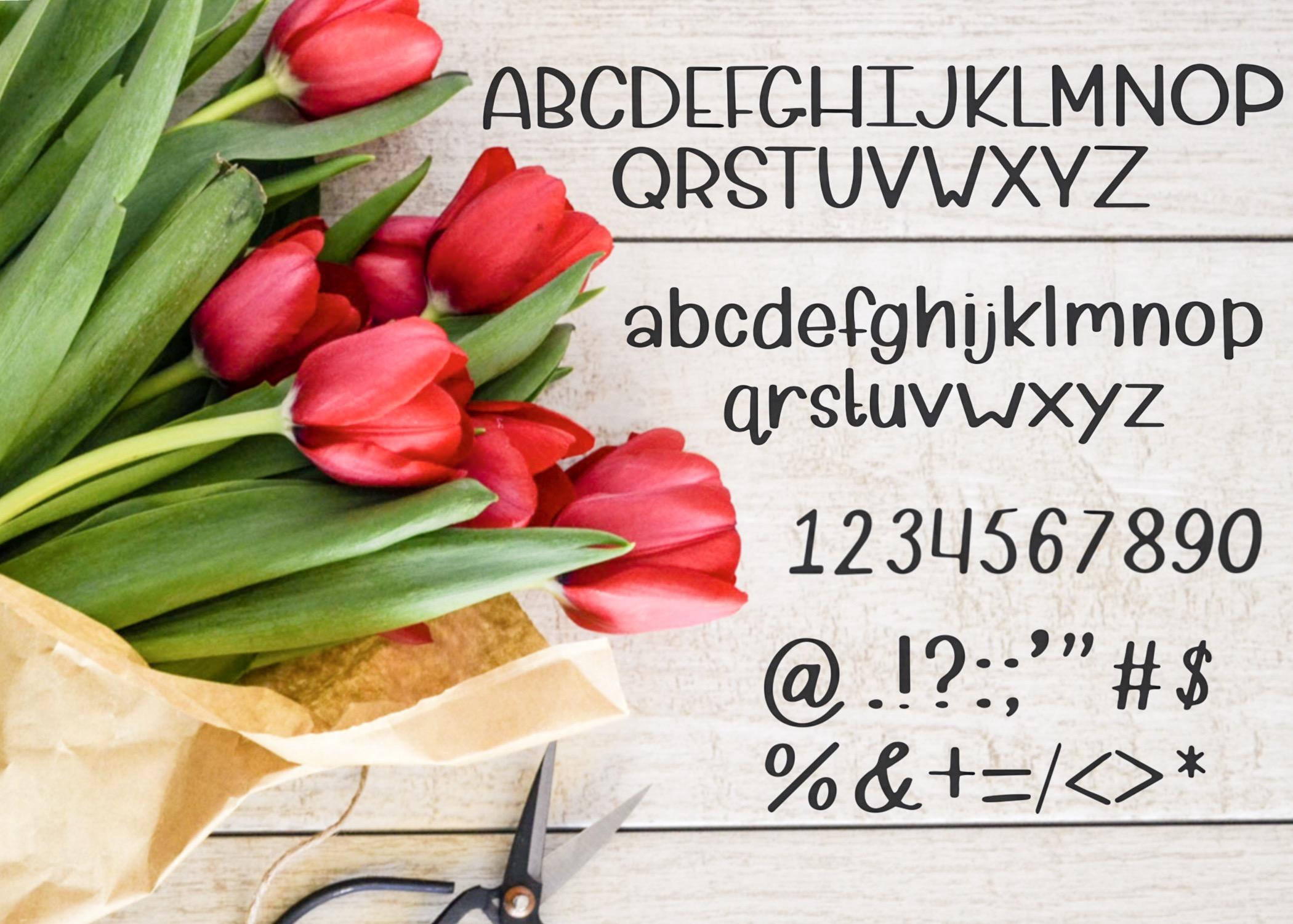 Petal Pusher - an adorably cute hand written font example image 5