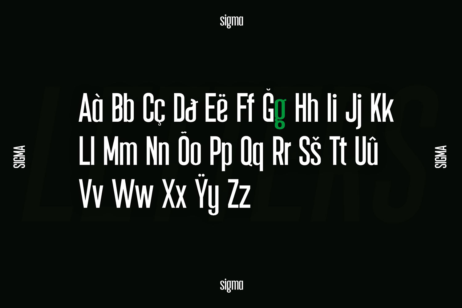Sigma Display Font example image 9