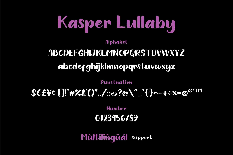 Kasper Lullaby - Handdrawn Sans Font example image 5