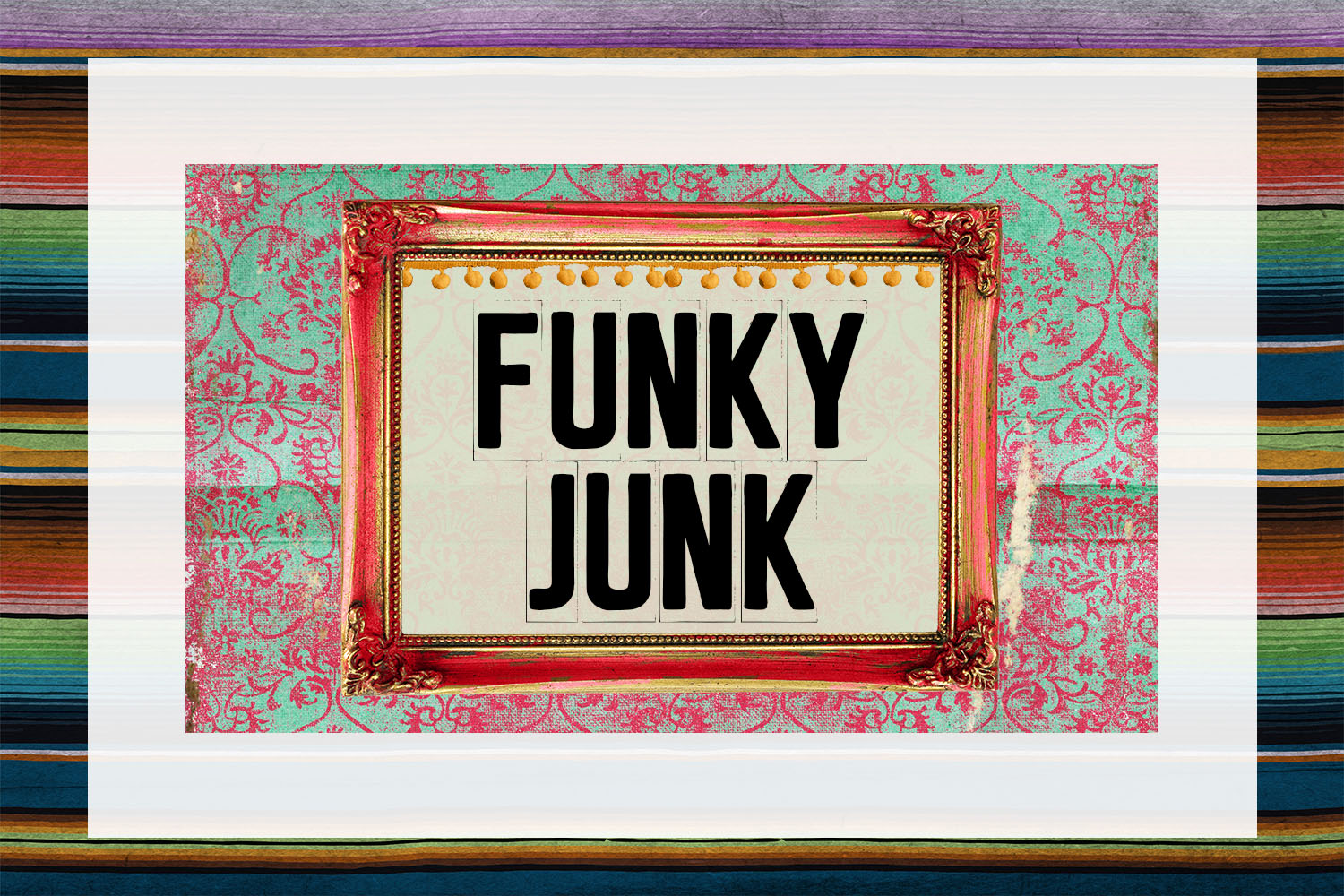 Funky Junk Business Card Digital Download example image 1
