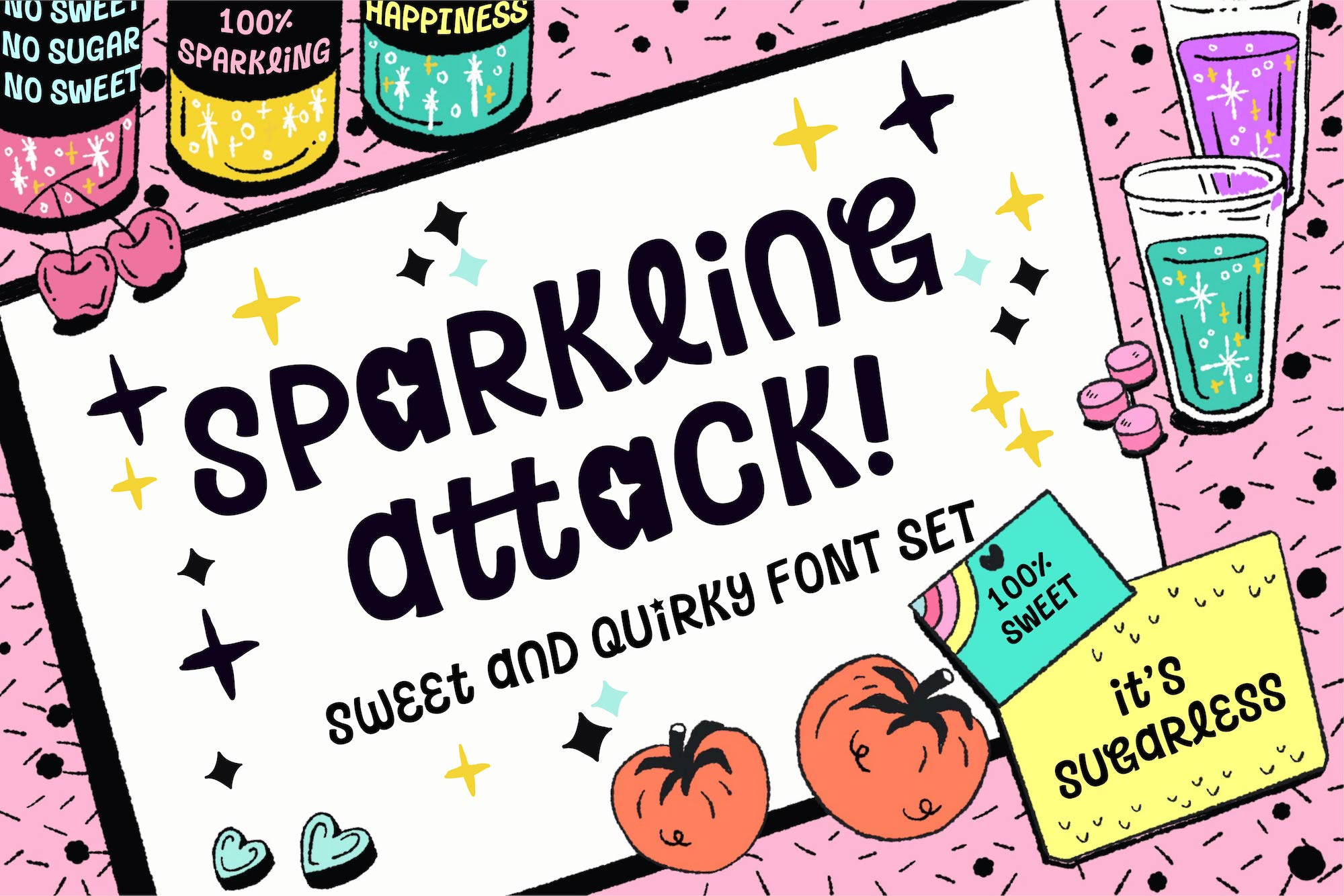 Sparkling Attack Font example image 1