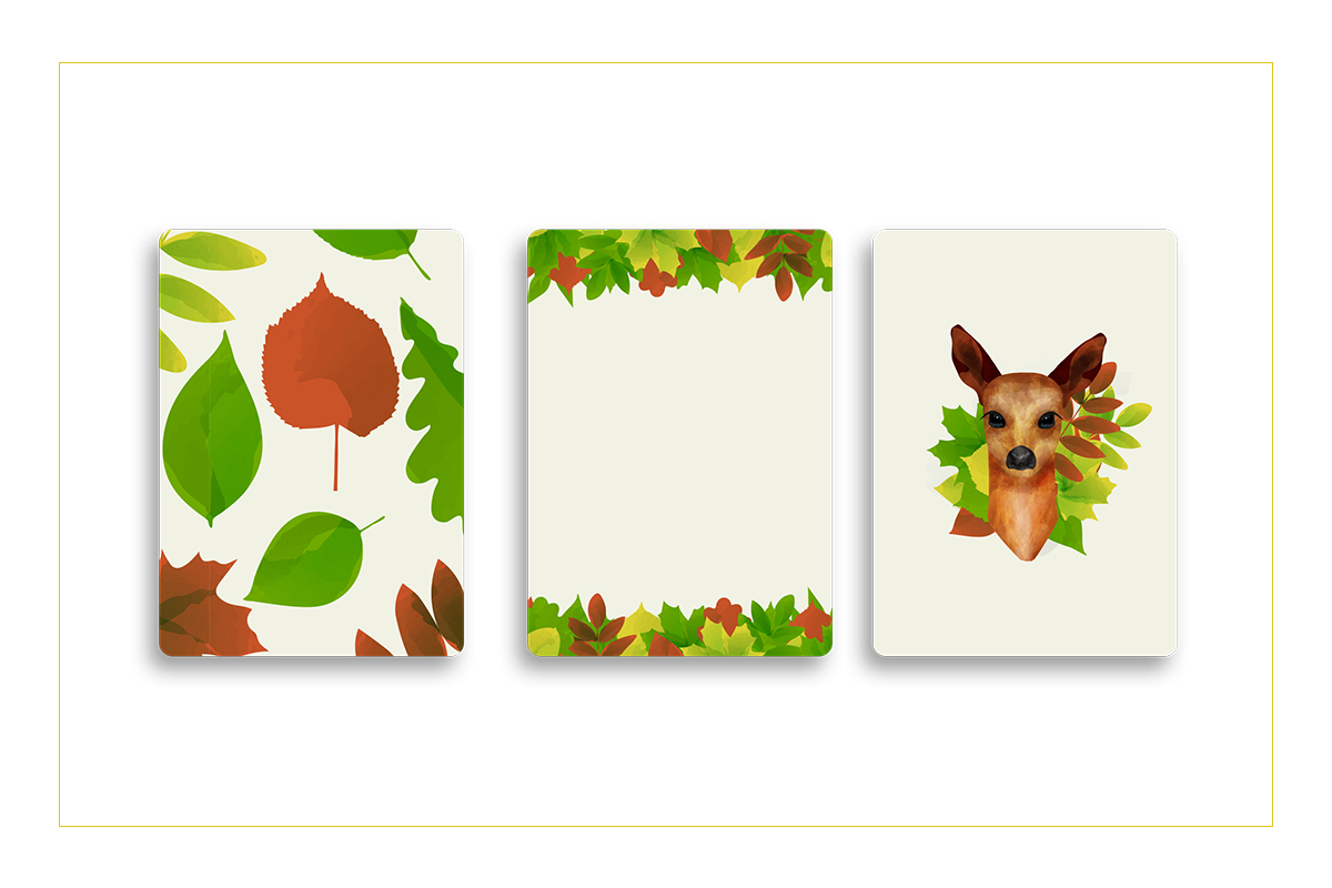 Autumn watercolor style vector collection. example image 5
