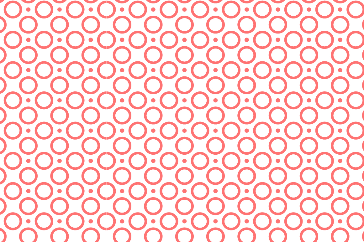 Dotted seamless patterns. Vector set example image 14