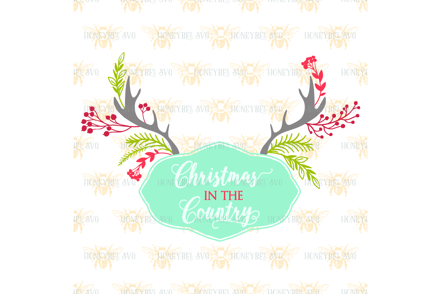 Christmas In The Country svg example image 2