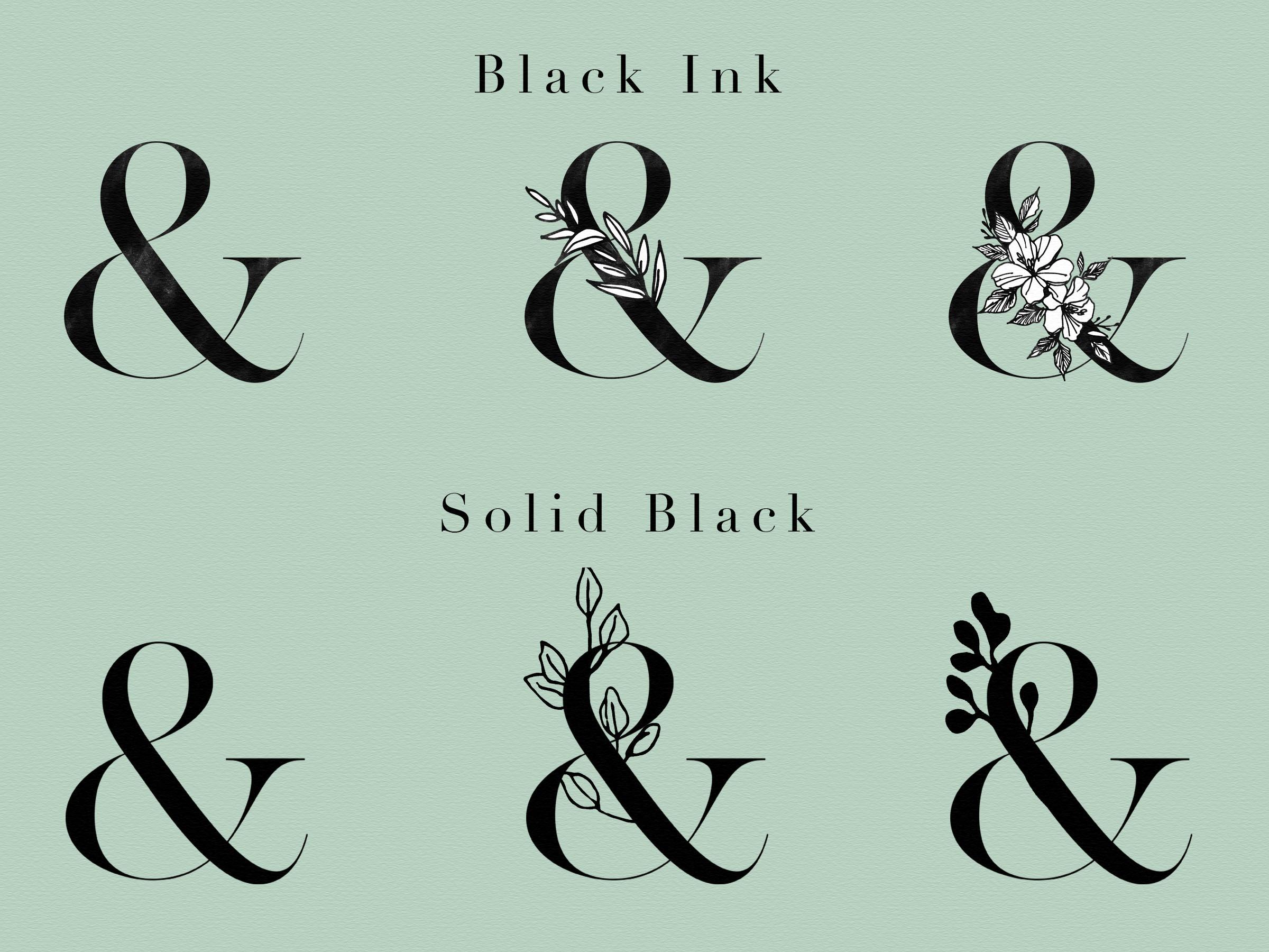 Floral Design Bundle - Monogram Letters Clipart example image 5