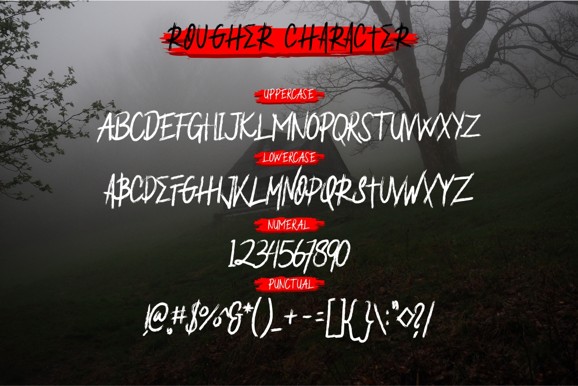 Rougher Brush Font example image 7