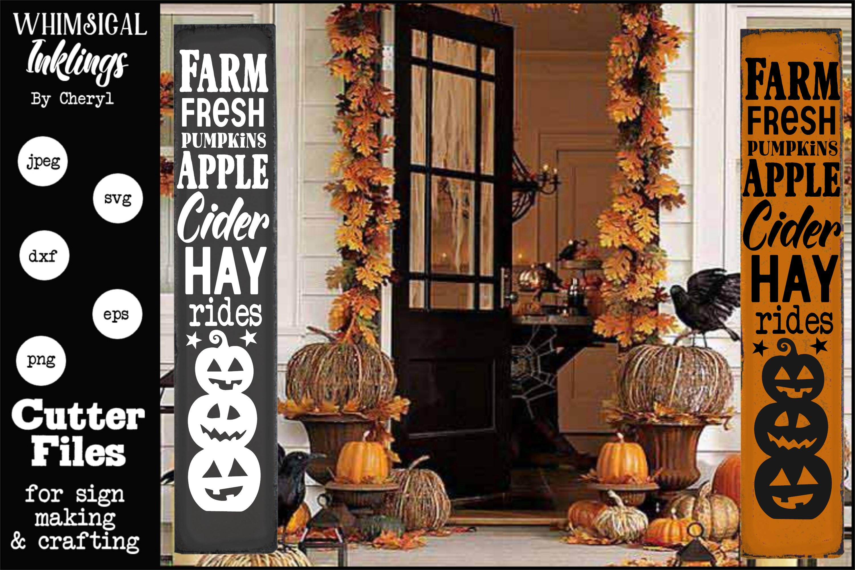 Farm Fresh Pumpkins-Vertical SVG example image 1