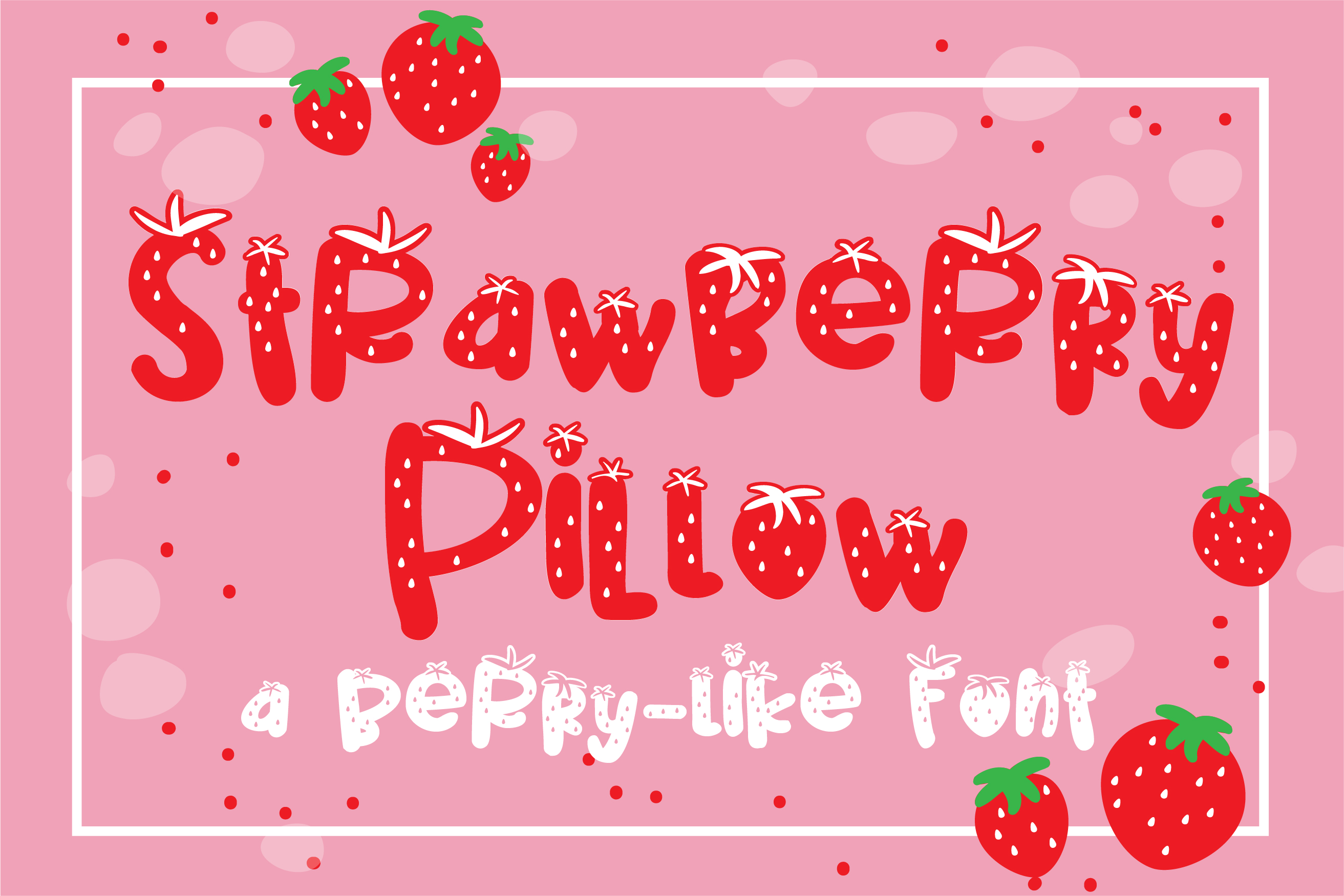 PN Strawberry Pillow example image 1
