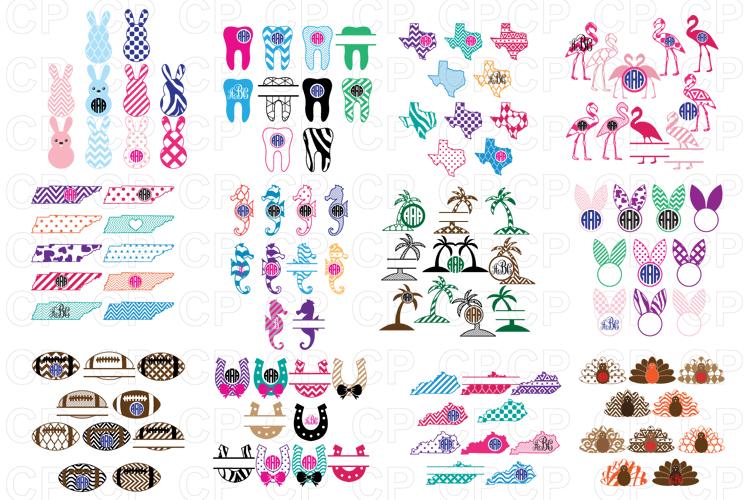 Shop Bundle, Bundle SVG, Monongram Bundle, Bundle Clipart example image 3