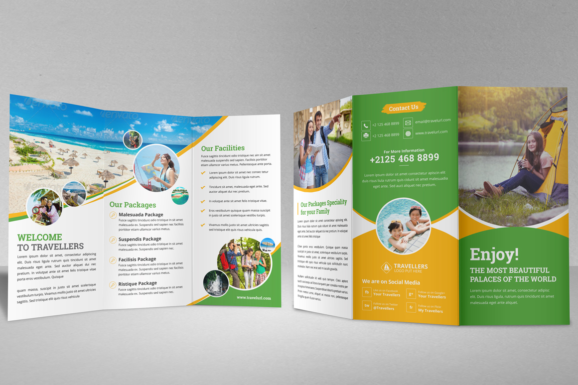 Holiday Travel Bifold & Trifold Brochure v2 example image 12