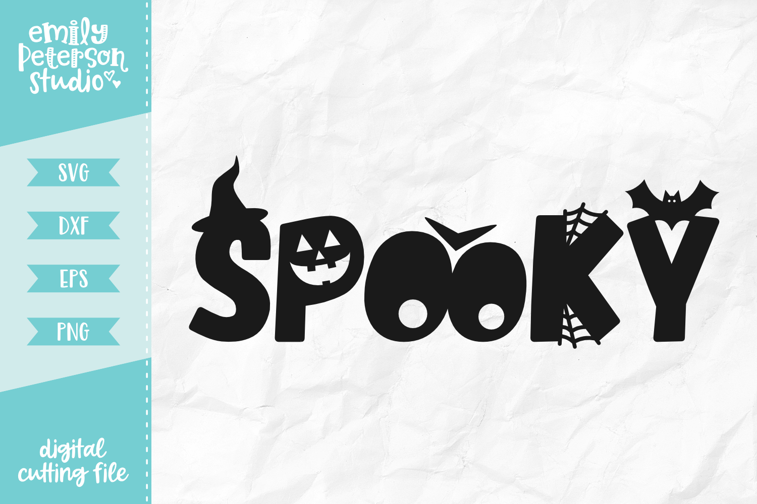 Spooky SVG DXF EPS PNG example image 1