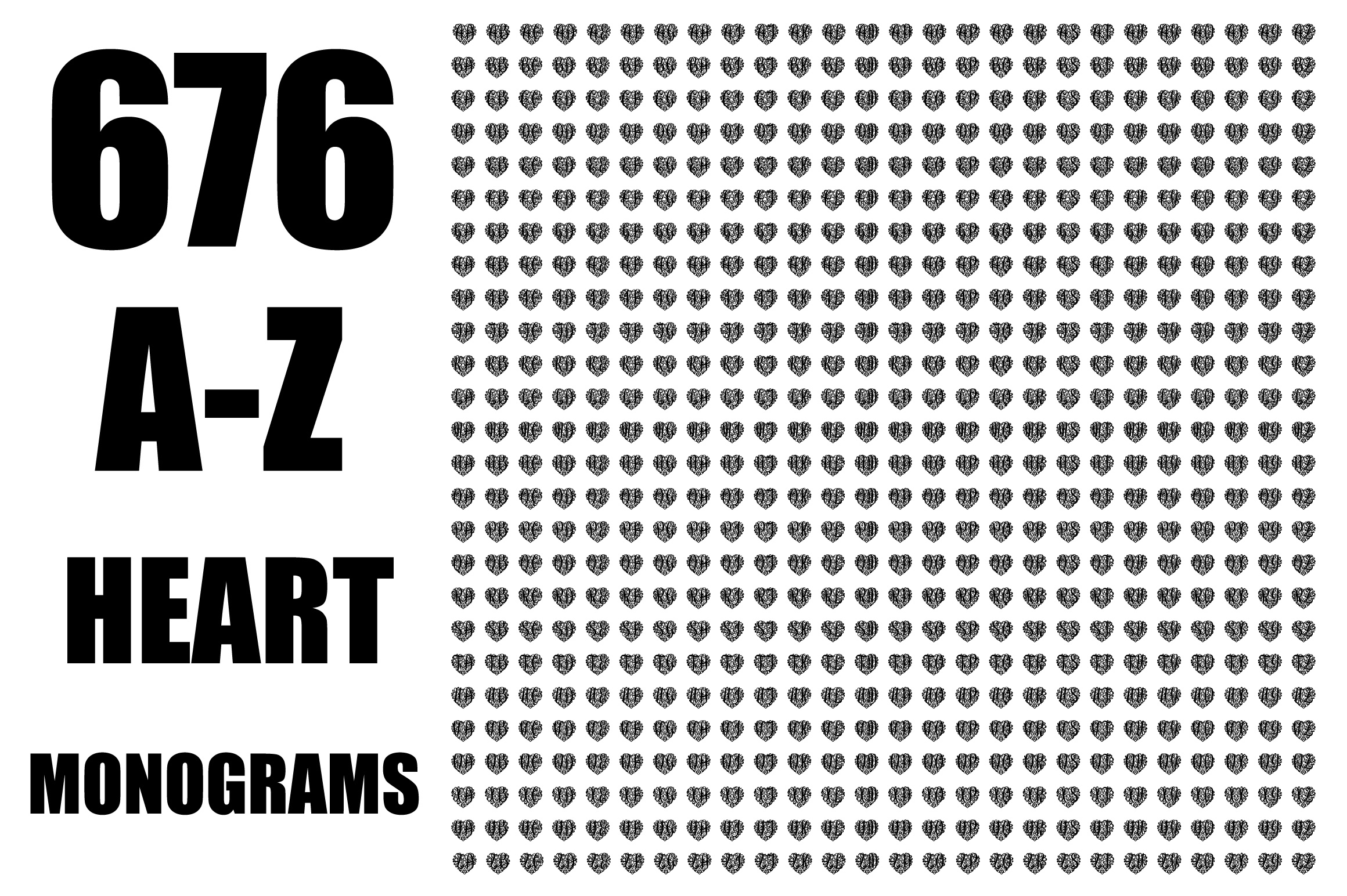 676 Heart Monograms | Ready for Papercut example image 4