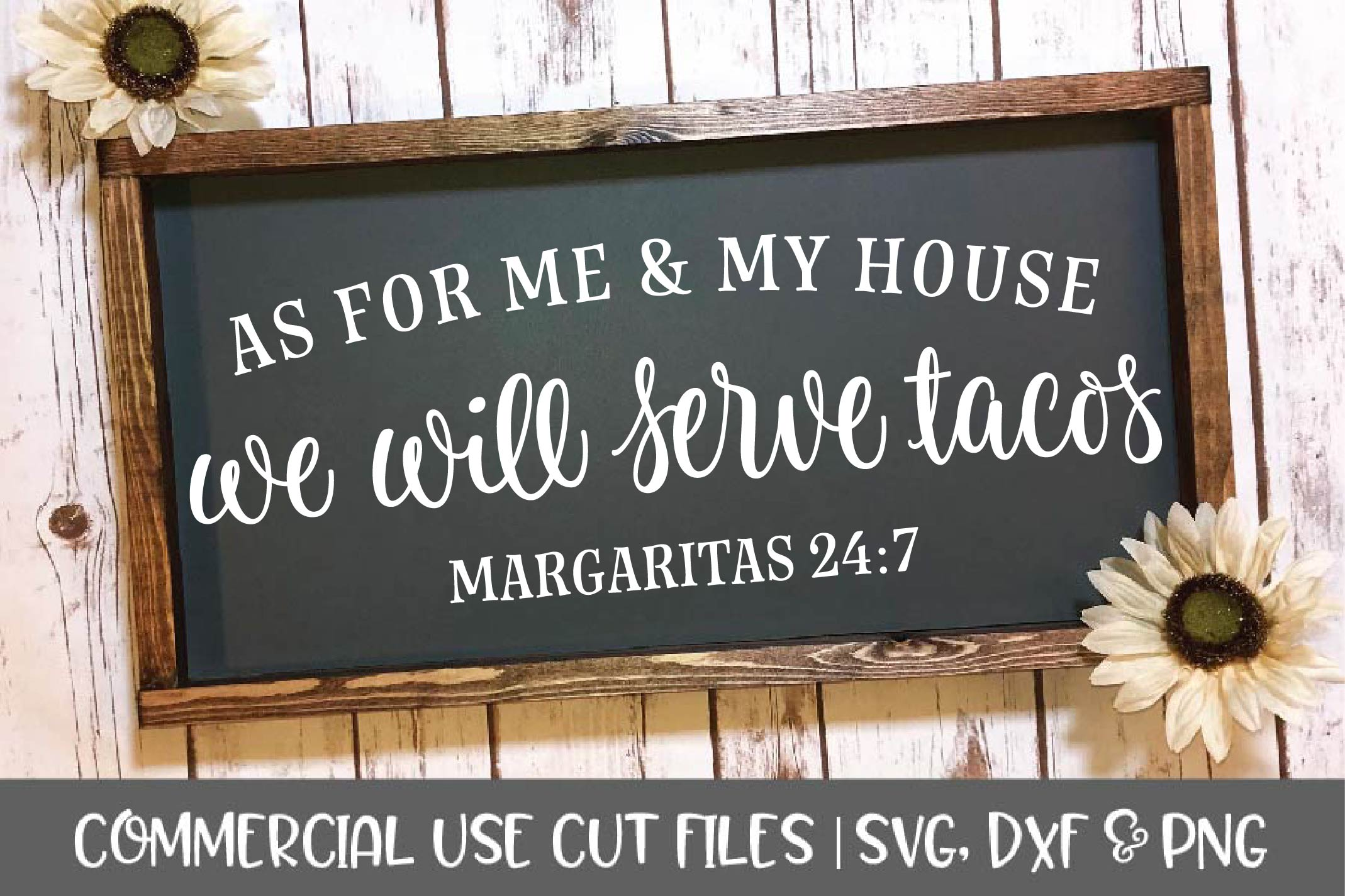 As For Me And My House-Digital Cutting File - SVG, DXF, PNG example image 1