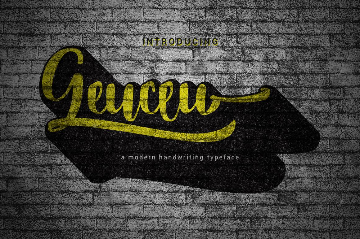 Geuceu Typeface example 1