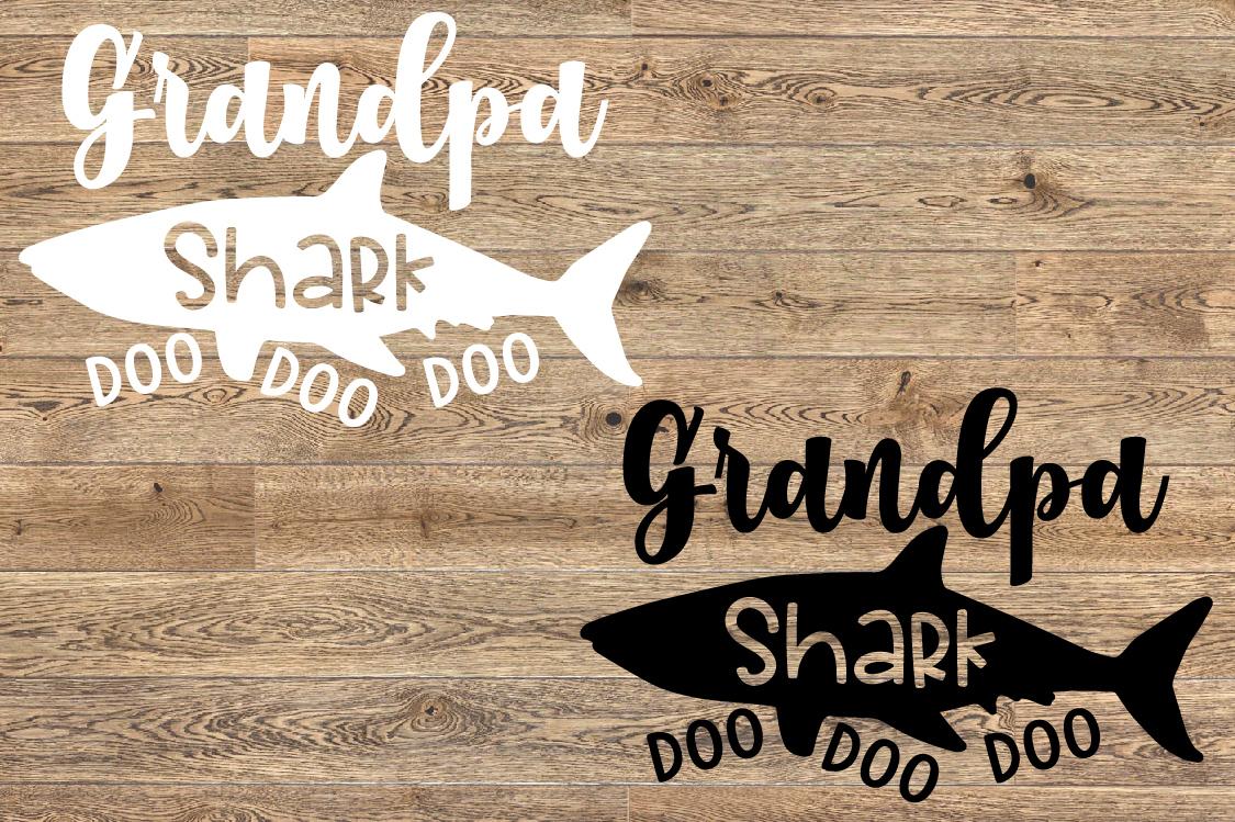 Grandpa Shark SVG Doo Doo Doo Family Birthday Sea 1307S example image 2