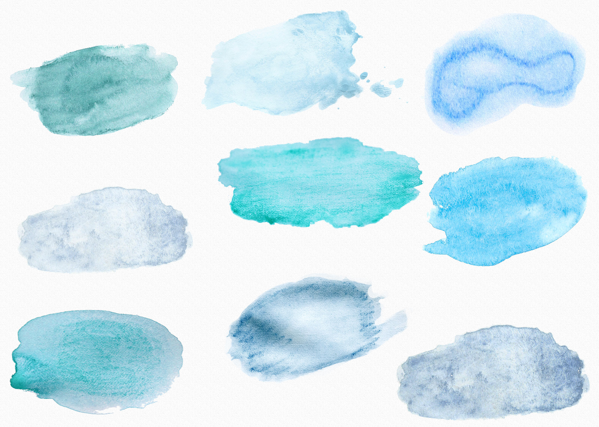 Watercolor hand painted textures example image 2