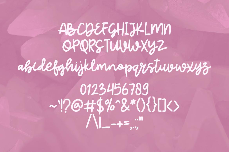 Quartz Bold Line Script example image 2