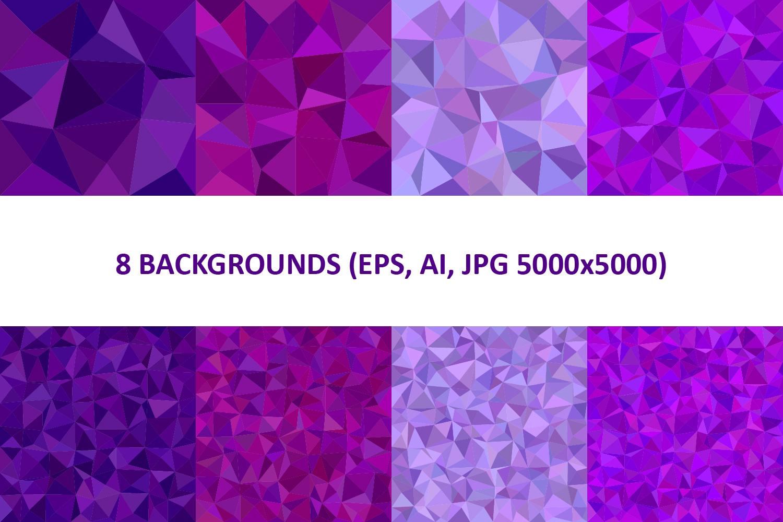 48 Triangle Backgrounds AI, EPS, JPG 5000x5000 example image 3