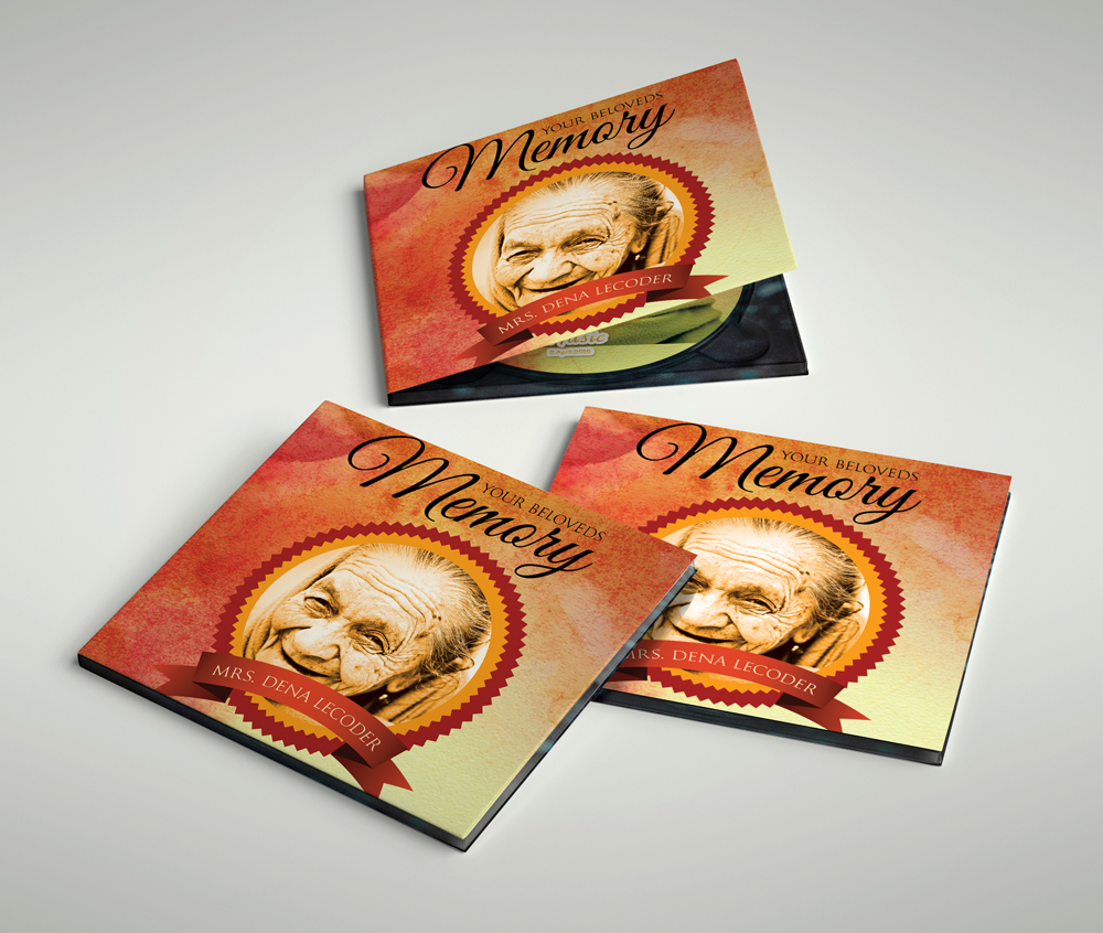 Memory / Memorial CD Covers Templates example image 3