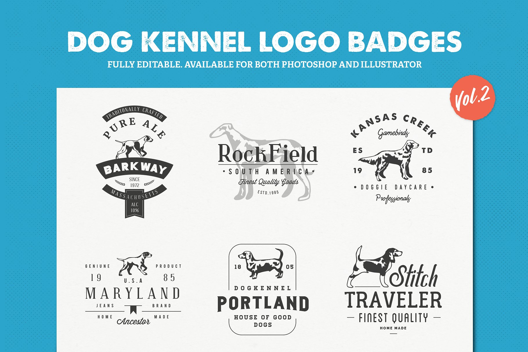 Dog Logos for Sale Vol.2 | Dog Logo Clothing Brand example image 1