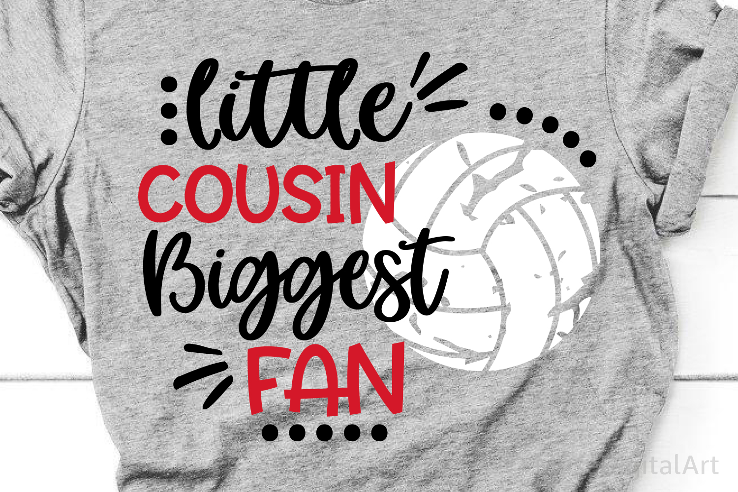 Volleyball Cousin Svg, Volleyball Svg Little Brother Biggest example image 1