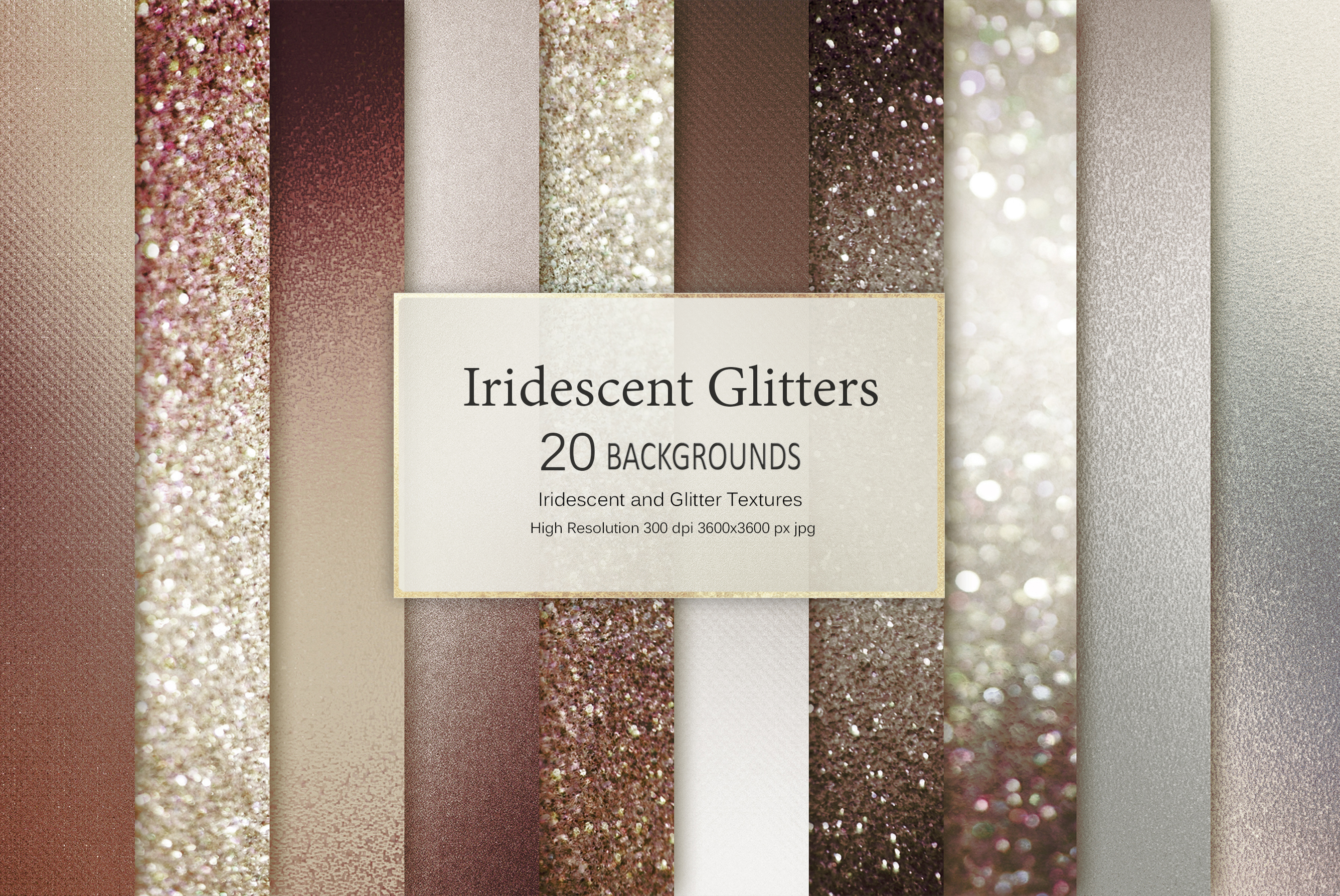 Brown Iridescent and Glitter Foil Textures example image 2