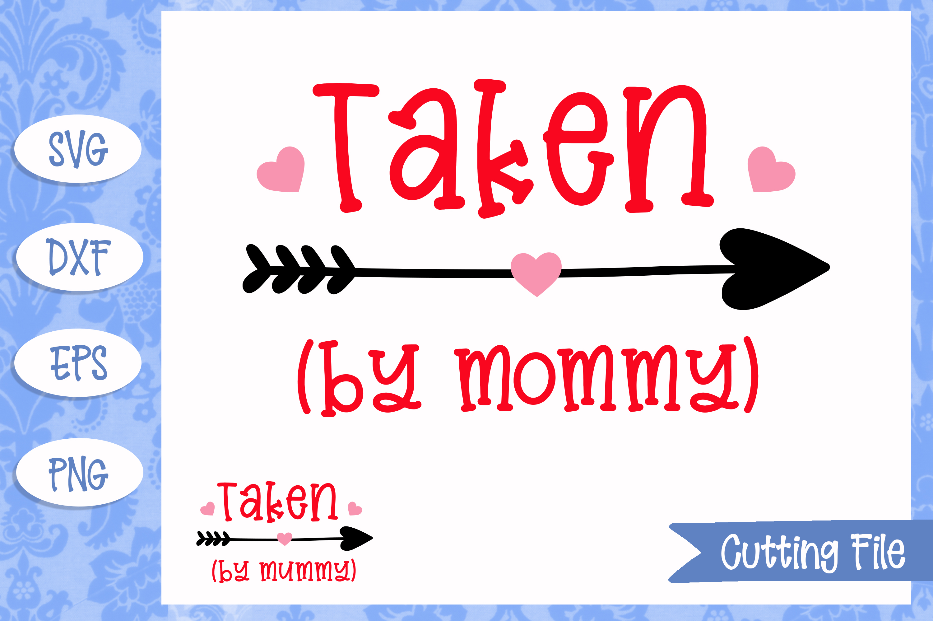 Taken by mommy SVG File example image 1