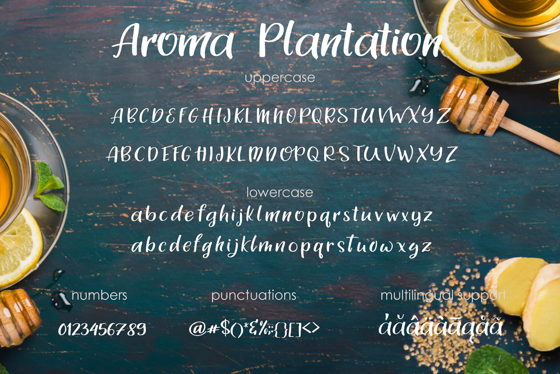 Aroma Plantation-font duo example image 4