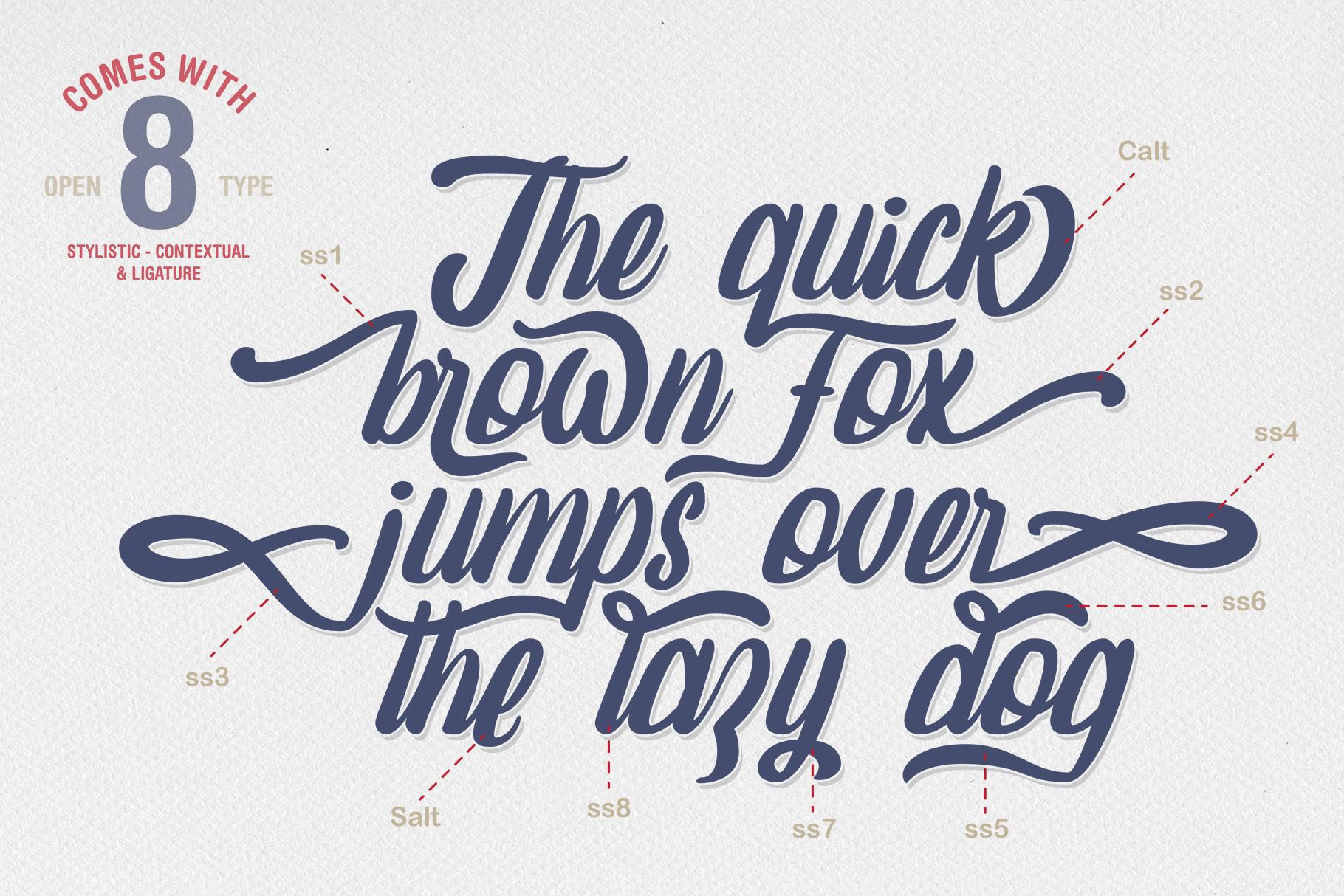 Amaranthine Script Font example image 2