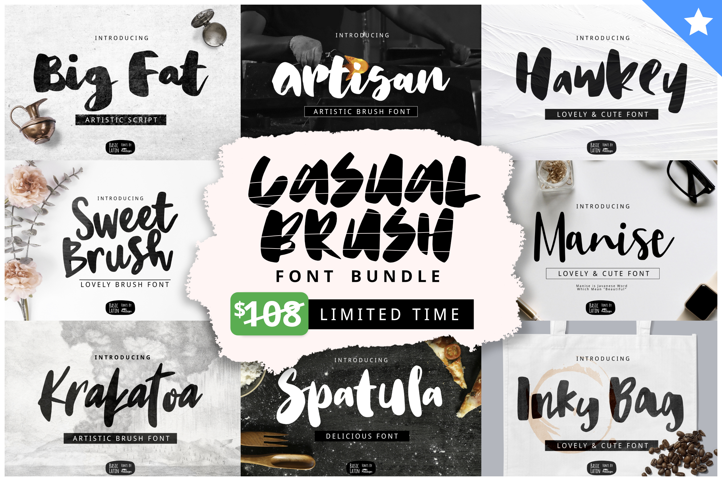 Casual Brush Font Bundles by YandiDesigns example image 1