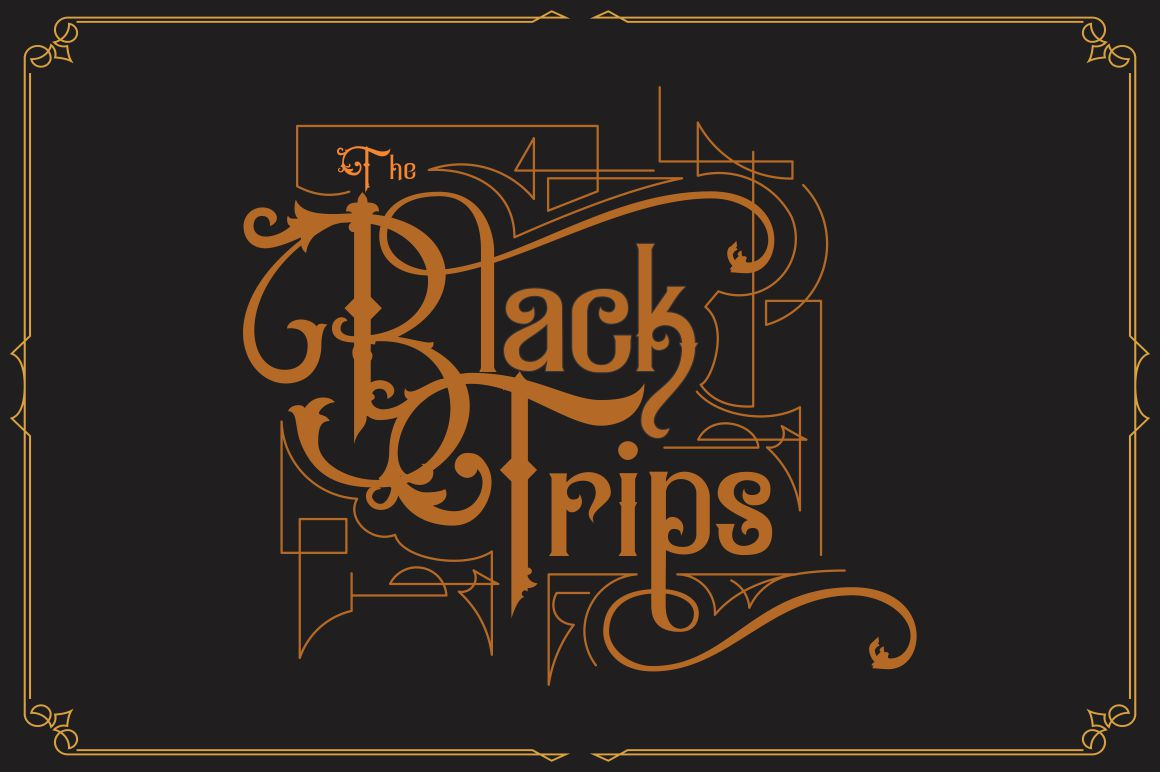 Black Savior - decorative calligraphy Display Font example image 4