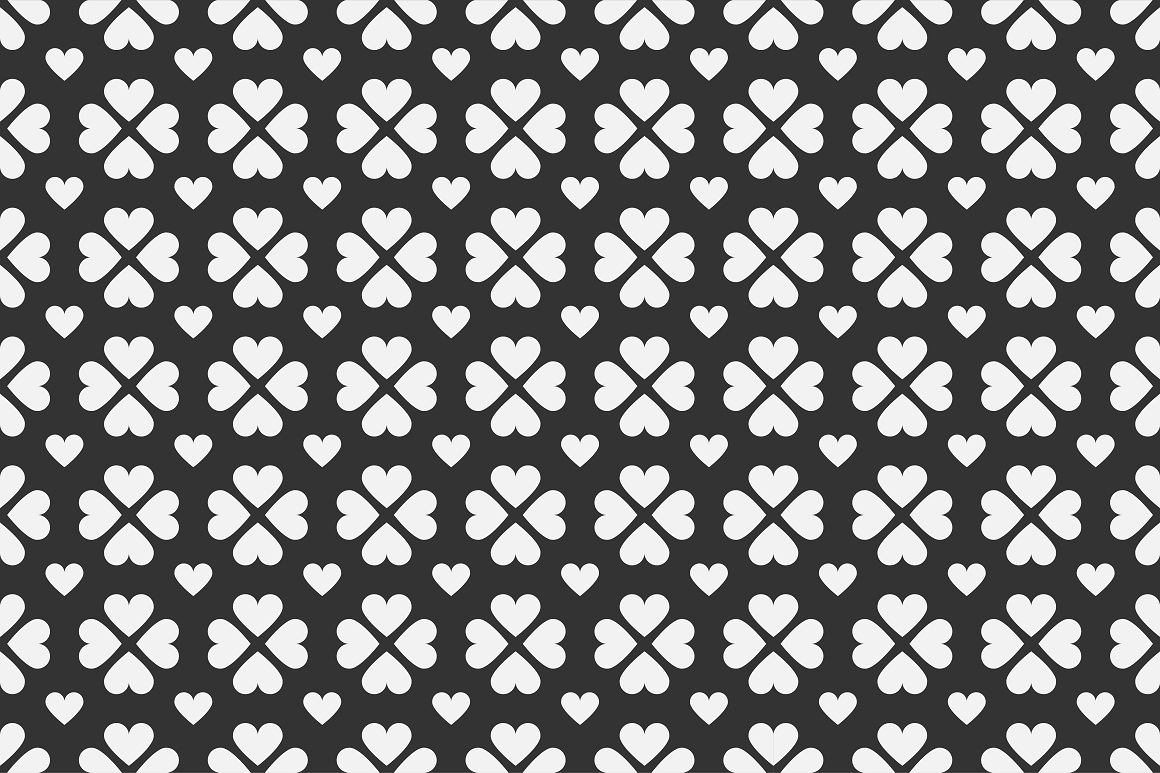 Set of seamless patterns with hearts example image 10