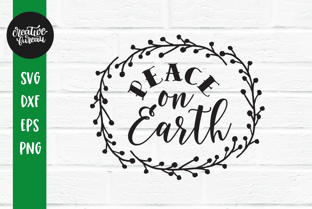 Peace On Earth SVG, Christmas SVG, Santa Claus SVG example image 1
