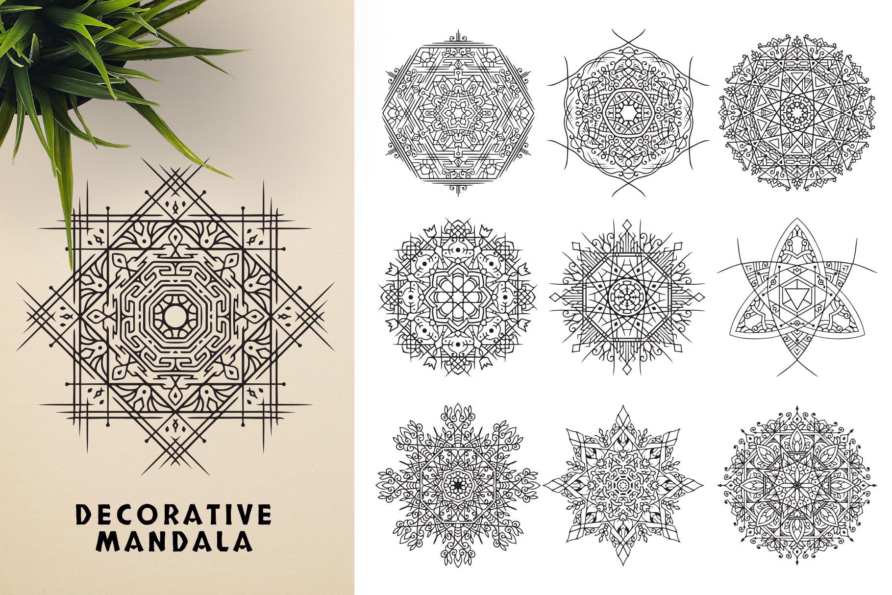300 Vector Mandala Ornaments example image 11