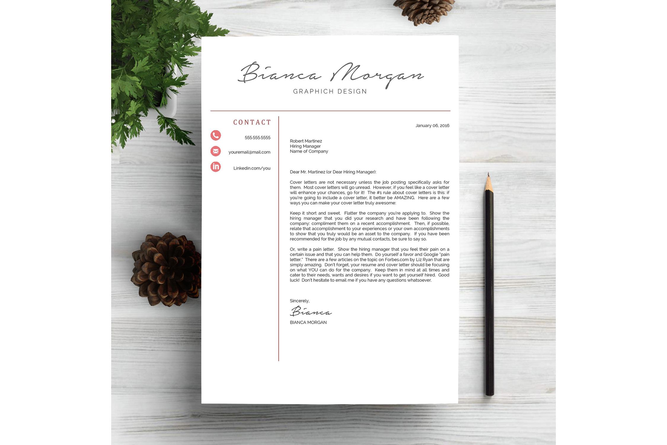 Creative Resume Template CV example image 4