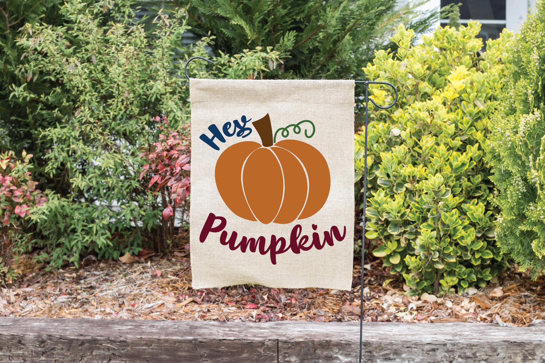 Hey Pumpkin SVG Cut File - Fall Pumpkin SVG example image 7