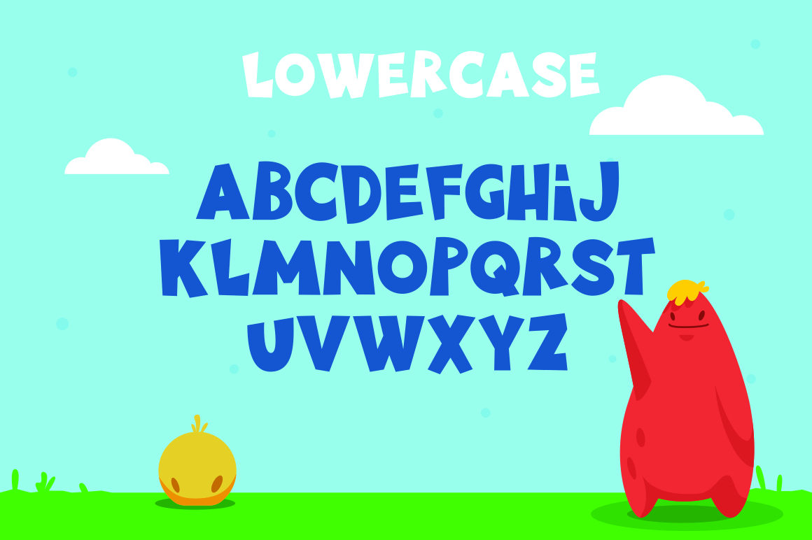 Little Munstar - A Monster Font example 3