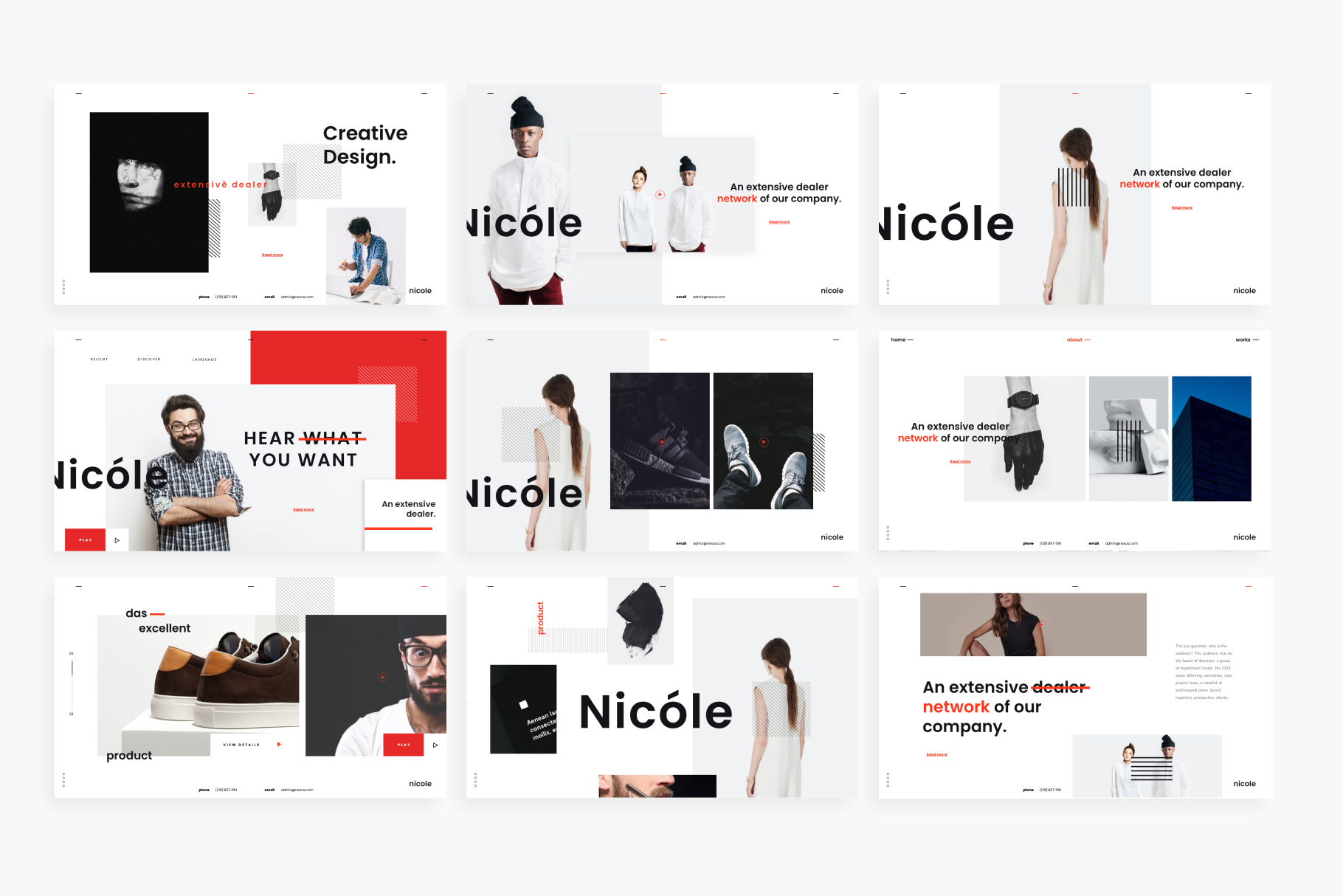 Nicole PowerPoint Template example image 8
