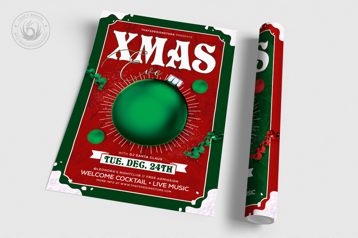 Christmas Eve Flyer Template V9 example image 3