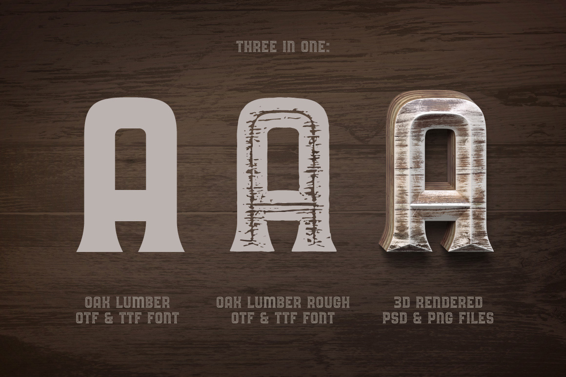 Oak Lumber Font example image 3