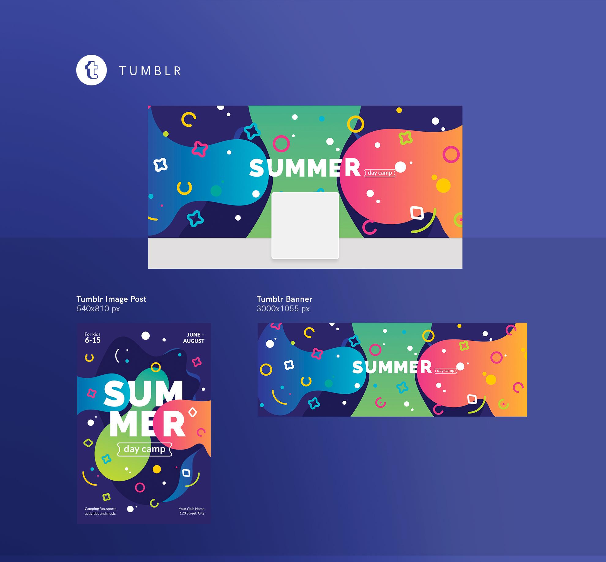 Summer Day Camp Design Templates Bundle example image 19